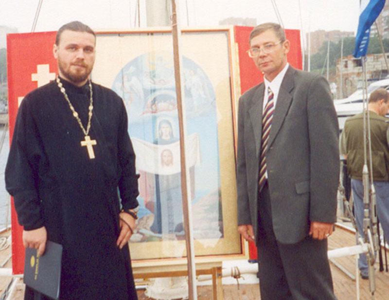 Игумен Роман (Медведев) и Юрий Корсаков
