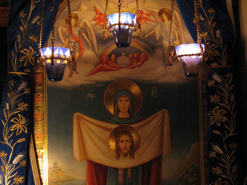 Американский список Порт-Артурской иконы Божией Матери в Крестовоздвиженском скиту в Зап.Вирджинии, США