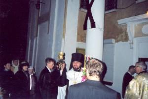 Первая служба в новом Порт-Артурском храме 2003