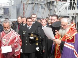 Молебен перед началом Морского крестного хода