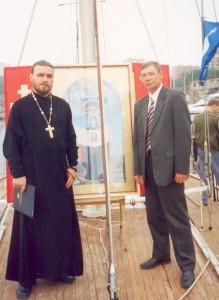 иеромонах Роман (Медведев) и Юрий Корсаков
