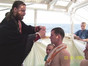 """Крещение на """"Палладе"""""""
