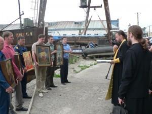 Встреча Морского крестного хода в Невельске