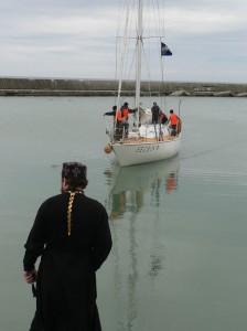 Прибытие Морского крестного хода в Томари