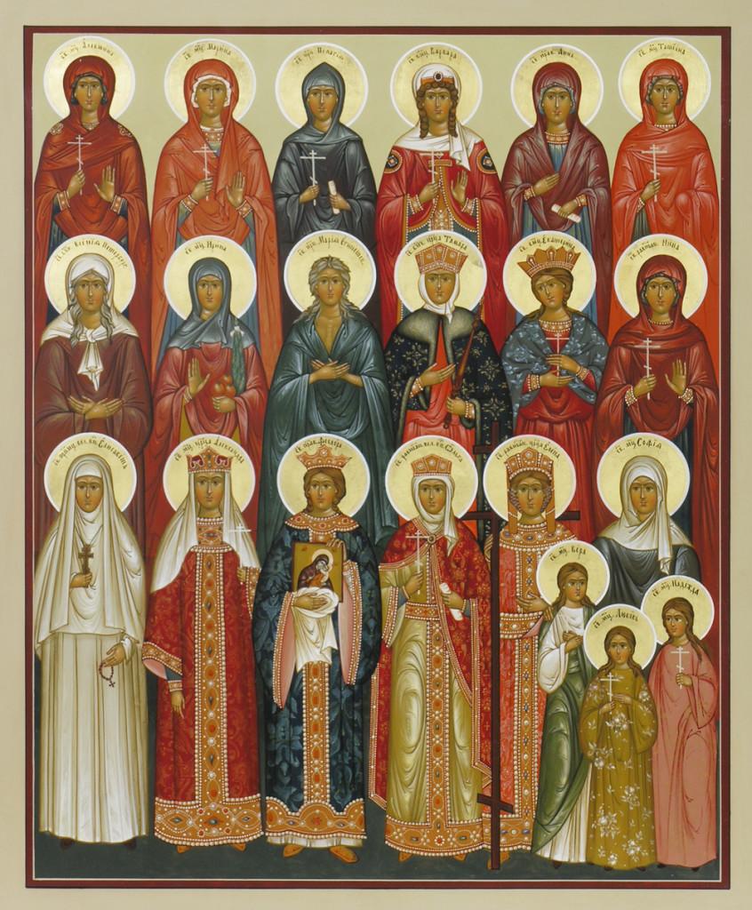 Икона святых жен