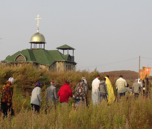 В Приозёрном строится православный храм