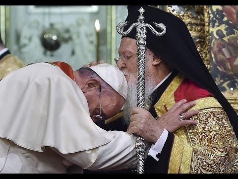 папа римский и патриарх Константинопольский